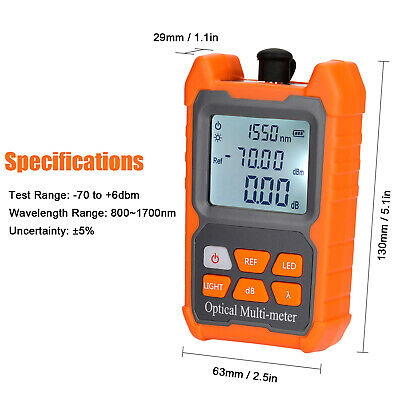 Mini Ftth Fiber Optic Optical Power Meter Cable Tester Backlight -706 Dbm Z6k6