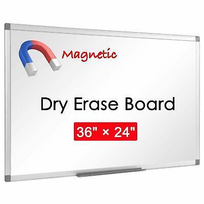 Universal Dry-erase Board Melamine 24 X 36 White Satin-finished Aluminum Fra