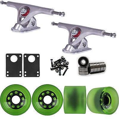 Paris 180 Raw Longboard Trucks Wheels Package 70mm Sliding Wheels Green