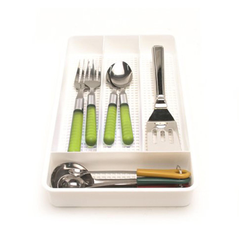 Cutlery Tray Kitchen Drawer Flatware Organizer Silverware Storage Utensil Holder