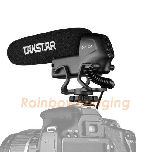TAKSTAR SGC-600 Cardiod Shotgun Microphone Mic for Nikon D7500 D7200 D5600 D750