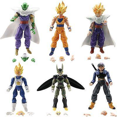 Dragon Ball Z 5  Figures X 6  Piccolo Cell Trunks Super Saiyan Goku Gohan Vegeta