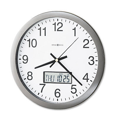 Howard Miller Chronicle Wall Clock with LCD Inset 14 Gray 625195