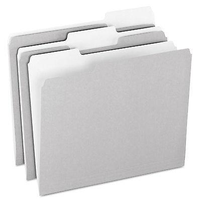 Pendaflex Colored File Folders 1/3 Cut Top Tab Letter Gray/Light Gray 100/Box