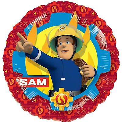 Fireman Sam Standard Foil Balloons Childrens Birthday Party Decorations - Fireman Balloons
