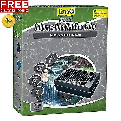 SUBMERSIBLE FLAT BOX POND FOUNTAIN FILTER WATER CLEANER TetraPond FREE 2 DAY NEW Fountain Water Cleaner