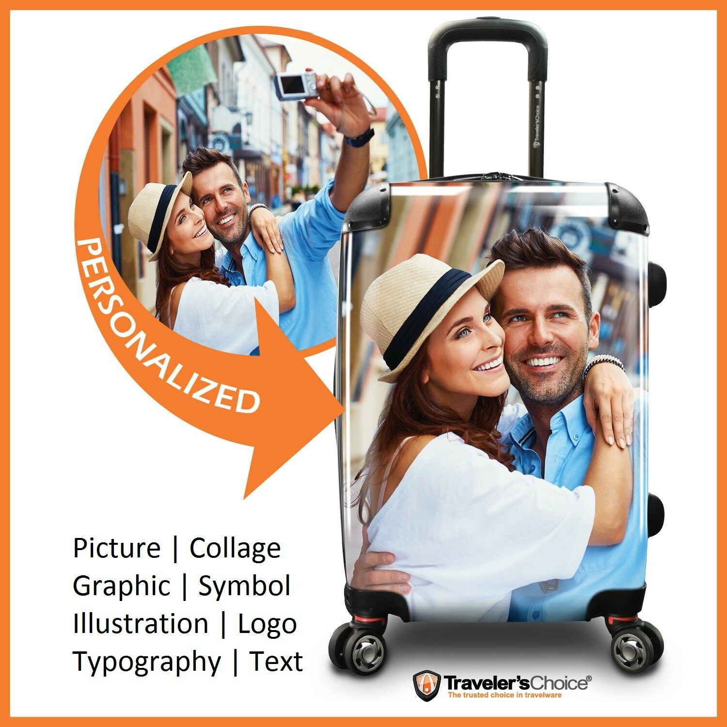 "Traveler's Choice 22"" Carry-on Customized Printing Expandabl"