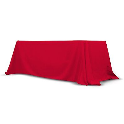 6' - 8' Ft Convertible Table Throw, Stain and Wrinkle Free Washable Polyester