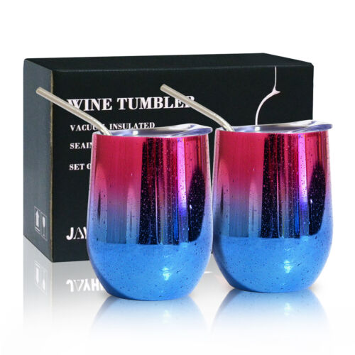 2x 12 oz insulated stemless wine tumbler