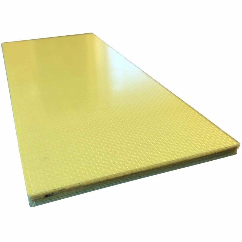 (1) CARBON FIBER ARAMID Plate - 100mm x 250mm x 6mm