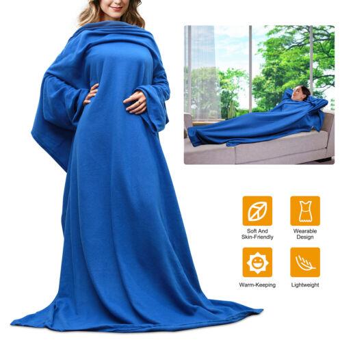 Wearable Fleece Blanket With Sleeves Microplush Sofa Air con