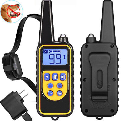 Waterproof Electric 880m Remote Pet Trainer Shock Training Collar for 1 Dog