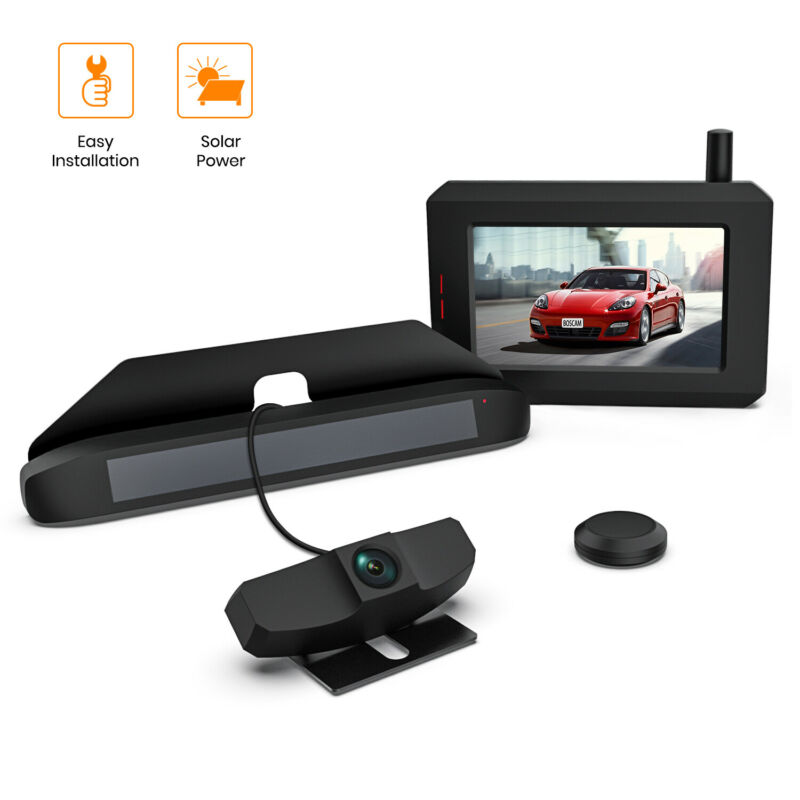 Boscam Solar True Wireless Digital Rear View Backup Reversing Camera Kit | SunGo