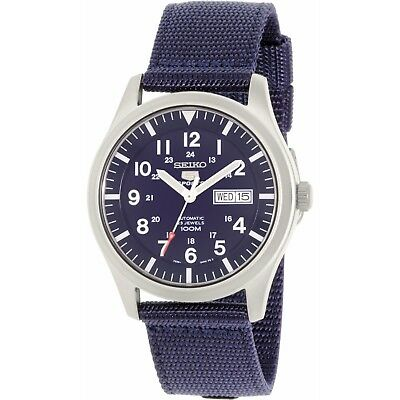 Seiko Men's 5 Automatic SNZG11K Navy Nylon Self Wind Fashion Watch
