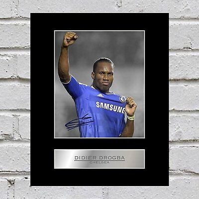Didier Drogba Signed Mounted Photo Display Chelsea FC