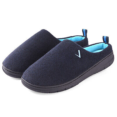 Men's Two Tone Memory Foam Slippers  Indoor Outdoor Slip On House Shoes