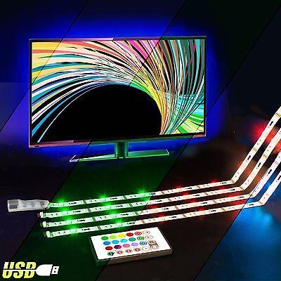 LED TV Backlight - Powered USB LED Strip Lights for 40 to 60 Inch HDTV - Bias