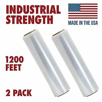 18 X 1200 Tough Pallet Shrink Wrap 80 Gauge 18 Inch X 1200 Feet Film 2 Pack