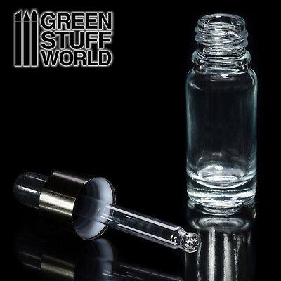Bote de Cristal vacío con Pipeta - mezcla pintura tinta dosificador aplicador