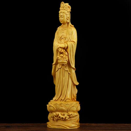 Boxwood Dharma Buddha Wood Carving Statue Handmade Bodhisatva Sculpture Amulet