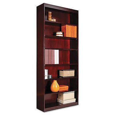 Alera Square Corner Wood Veneer Bookcase, Seven-Shelf, 35-5/8 x 11-3/4 x 84, Alera 3 Shelf Bookcase