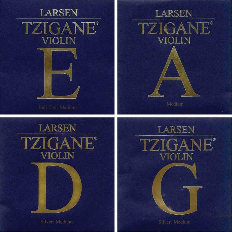 Larsen Tzigane 4/4 Violin String Set with Ball-End E - Medium Gauge