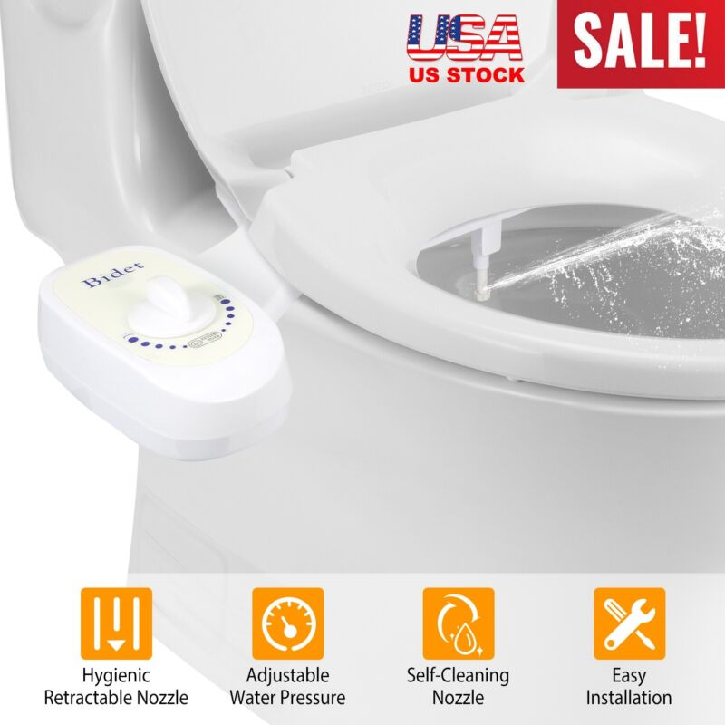 "7/8"" Adjustable Clean&Clear Rear End Bidet Butt Wash Washer Fresh Water Spray"