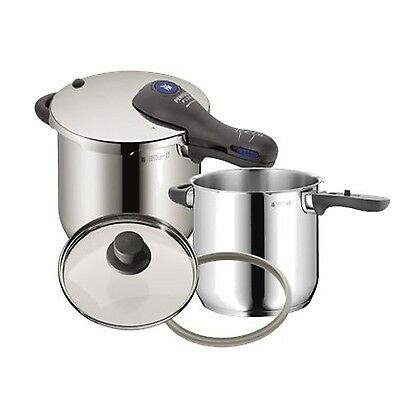 WMF Perfect Plus Pressure Cooker Set 6.5 Qt + 4.5 Qt With Two Lids
