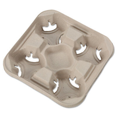Chinet StrongHolder Molded Fiber Cup Trays 8-32oz Four Cups 300/Carton 20994CT