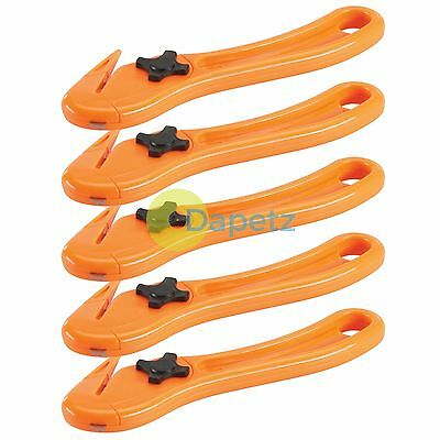 5 X Film Slitter Package Opener Work Safety Knife Band Cutter Carton Box Strap