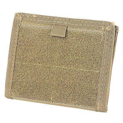 Condor Tactical MOLLE Admin ID Holder Panel Zipper Pocket Pouch Wallet Tan