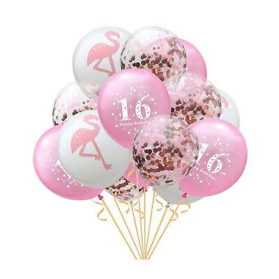 Happy Birthday Konfetti Luftballon Set für 16. Geburtstag Party Ballons Rosegold ()