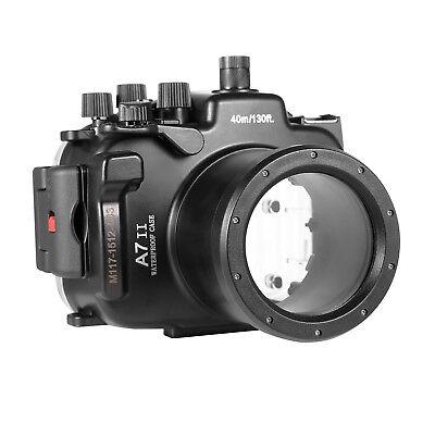 Meikon 40m/130ft Unterwasser Tauchen Gehäuse Case für Sony A7 II A7R II A7S II