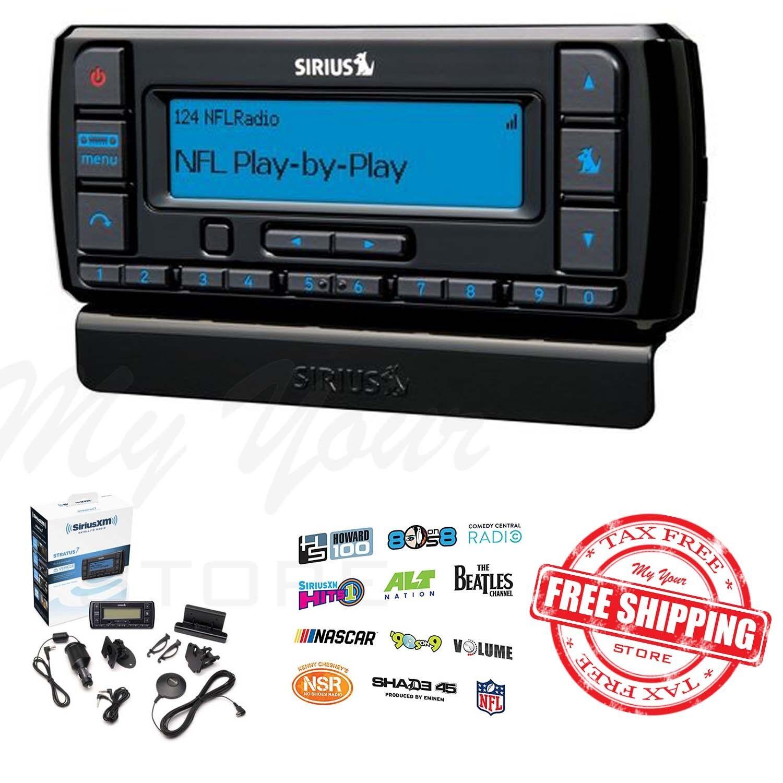 Siriusxm-ssv7v1 Stratus 7 Satellite Radio With Vehicle Kit- Black With 1 Free Month & Free Activation 17