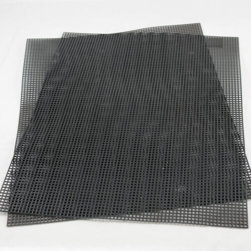 "US Made 2 Plastic Drainage Mesh / Screen / Net for Bonsai Pot 10.5""x 13.5"" Black"