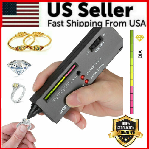 Portable Diamond Tester Selector Illuminated Jewelry Gemstone Testing Tool Kit