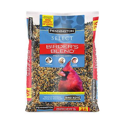 Wild Bird Food Seed Mix Birder's Blend Bulk 40 lb Bag Feed Pennington Select Pet