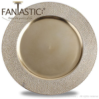 Fantastic:)™ Round 13Inch Charger Plate With Metallic Finish ( Stone Pattern ) Round 13 Charger