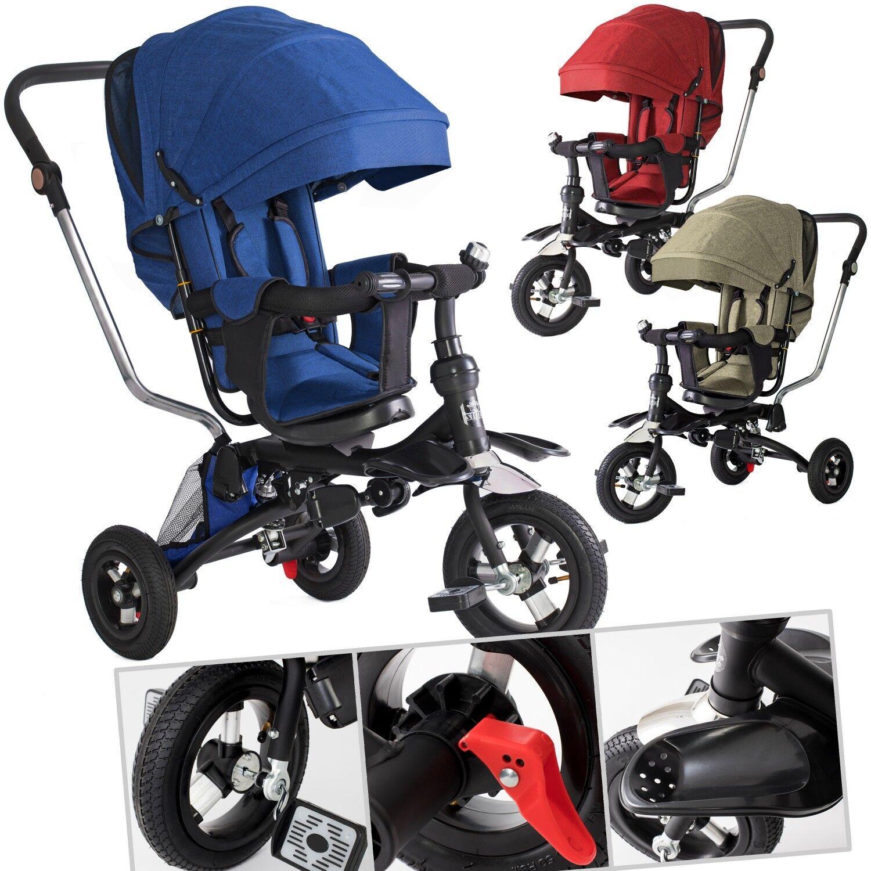 KESSER® Dreirad Kinderdreirad Kinder Lenkstange Dach Fahrrad Baby Kinderwagen