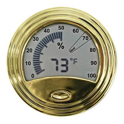 Digital Analog Hygrometer Cigar Humidor Thermometer Temp Humidity Meter FH1539G