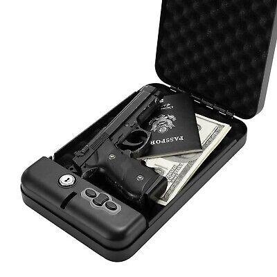 RPNB Gun Safe,California DOJ Certified Gun Safe, Smart Pistol Safe Handgun Se...