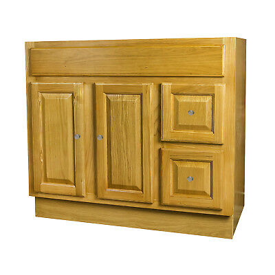 (36 x 18 Oak Bathroom Vanity)
