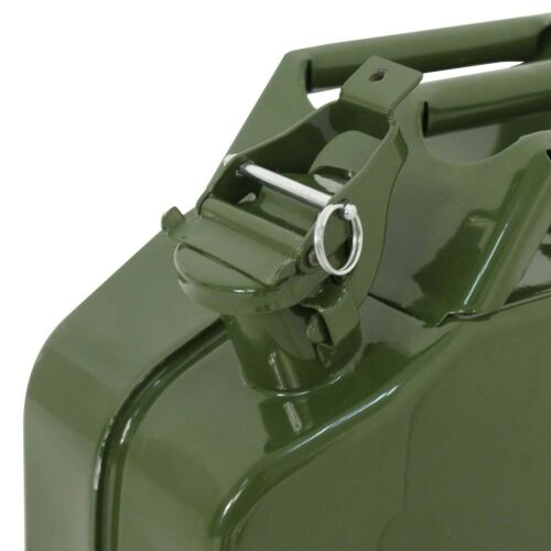 5 Gal 20L NATO Style Jerry Can Gasoline Fuel Can Metal Tank Emergency Backup