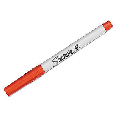Sharpie Permanent Markers Ultra Fine Point Red Dozen 37002