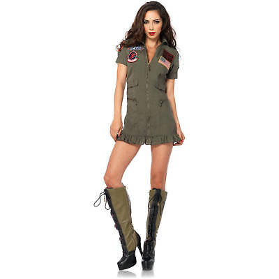 Top Gun Dress Adult Womens Costume, TG83700, Leg - Costume Top Gun