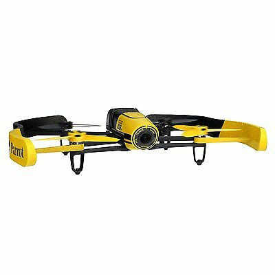 Parrot Bebop Drone 1400 megapixel quad Copter with fish-eye lens camera Yellow