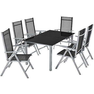 Gartenmöbel Aluminium Essgruppe Sitzgruppe Set Klappstuhl Gartenset ArtLife®