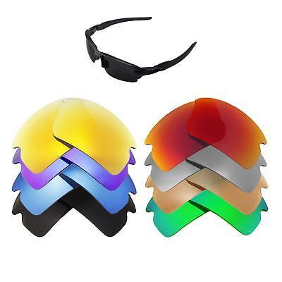Walleva Replacement Lenses for Oakley Flak 2.0 Sunglasses - Multiple Options