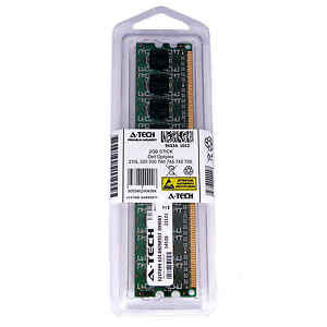 2GB DIMM Dell Optiplex 755 210L 320 330 740 745 FX160 GX320 Ram Memory