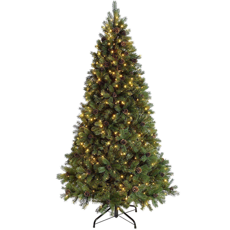 Farbe:warmwei/ß LED Baum Fichte Leuchtbaum Lichterbaum 120 LEDs 150cm beschneit Weihnachtsbaum
